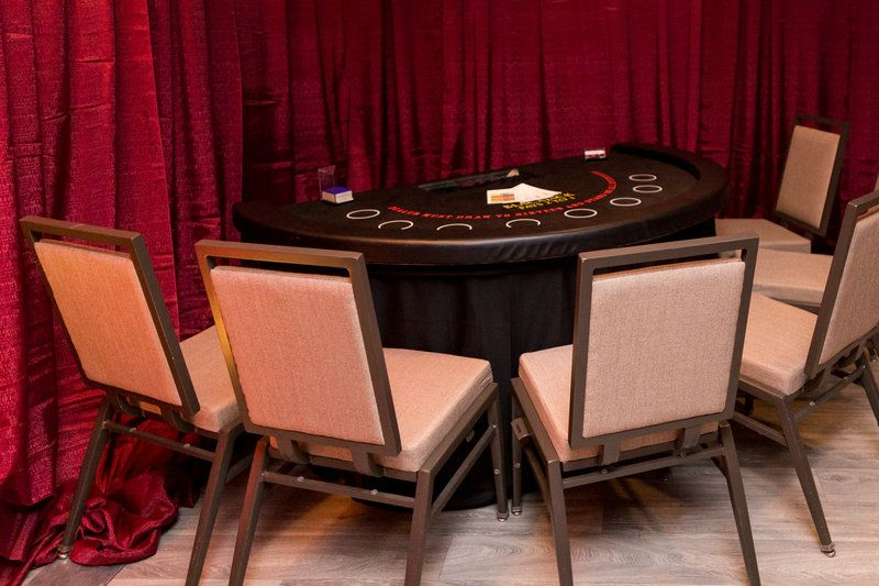 Chairs casino games draping vintage event rentals