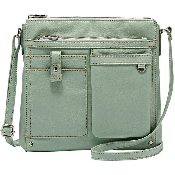 Relic Libby Crossbody Bag ($23) ❤ liked on Polyvore featuring bags, handbags, shoulder bags, imitation handbags, crossbody purses, shoulder strap bags, crossbody shoulder bags and green purse