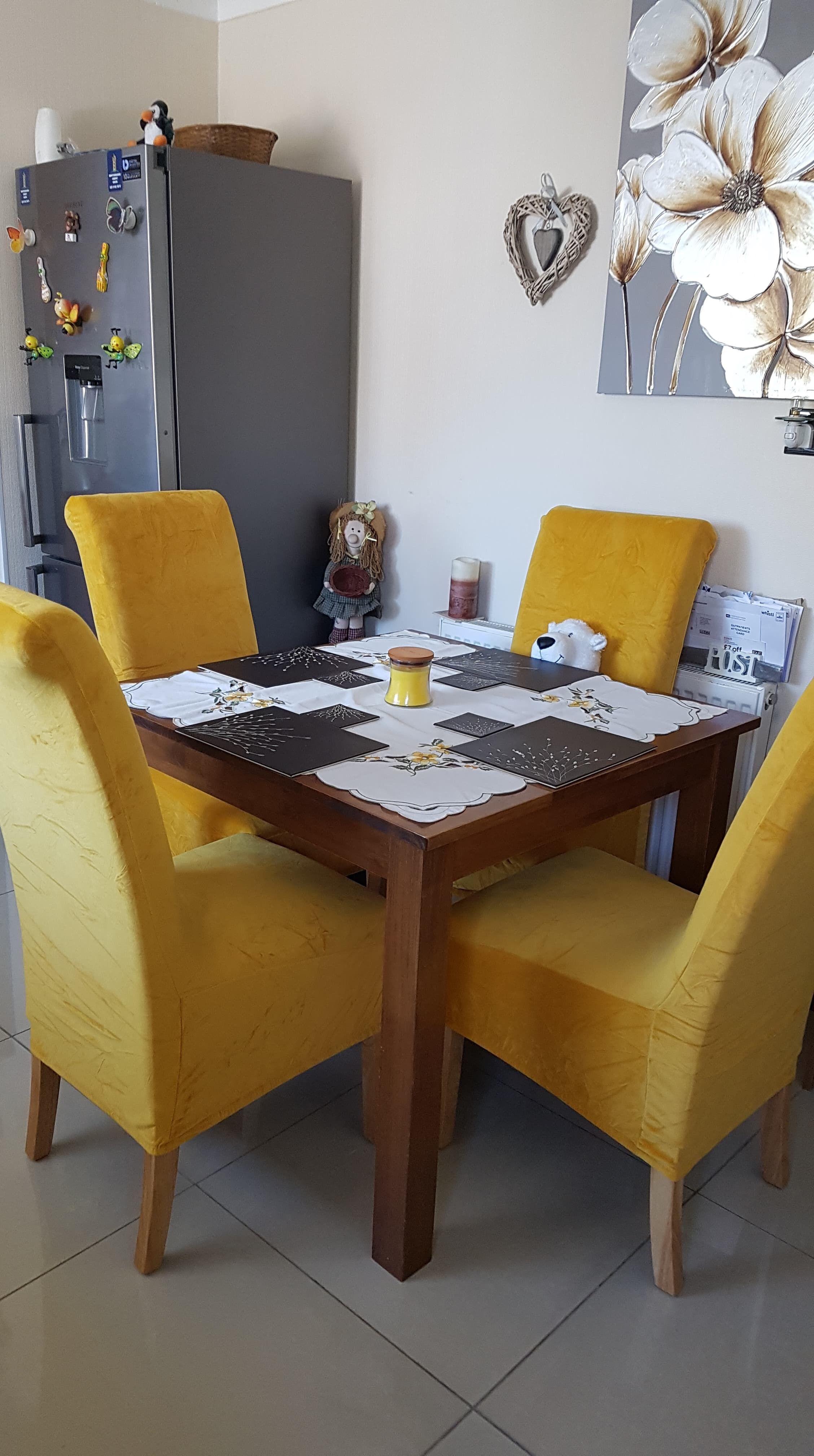 mustard velvet shown here in ChairFX size Large