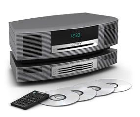 bose dvd player. bose wave music system with multi-cd changer - titanium silver dvd player f