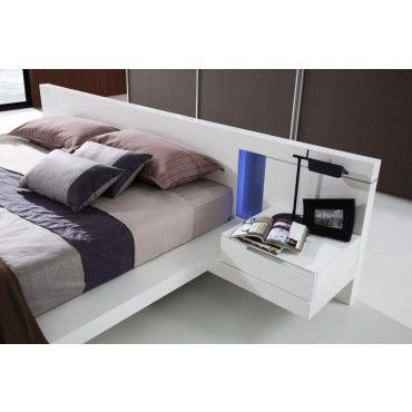 Alaska Platform Bed With Lights And Built In Nightstands Beds