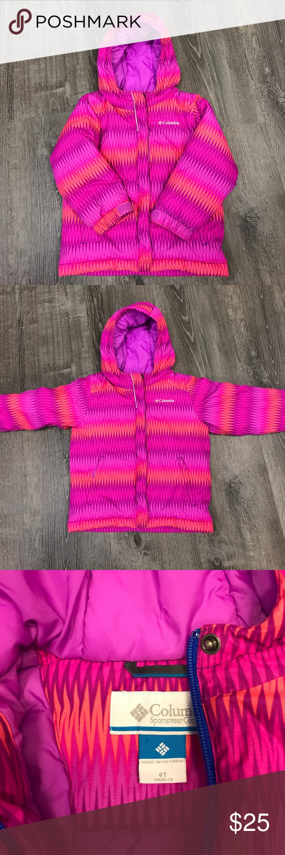 6f2757aed Toddler Girls Horizon Ride Columbia Winter Coat 4T Brightly colored ...