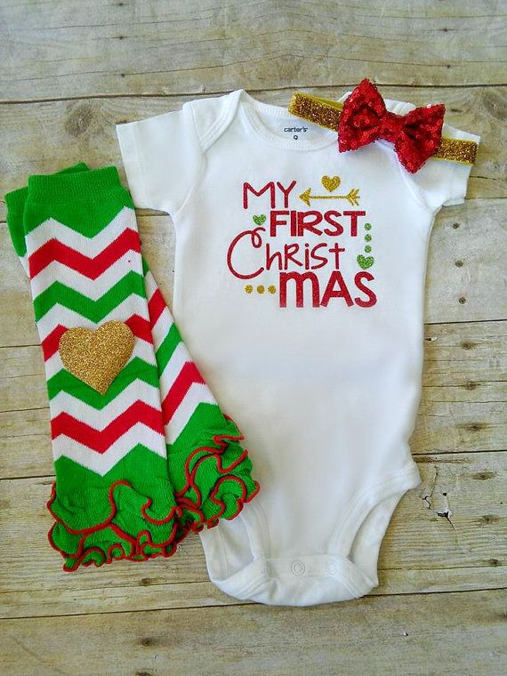 Baby Girl Christmas Outfit, Red Green Gold, Baby's 1st Christmas Outfit, My First  Christmas Outfit, Legwarmers, Headband - Baby Girl Christmas Outfit, Red Green Gold, Baby's 1st Christmas