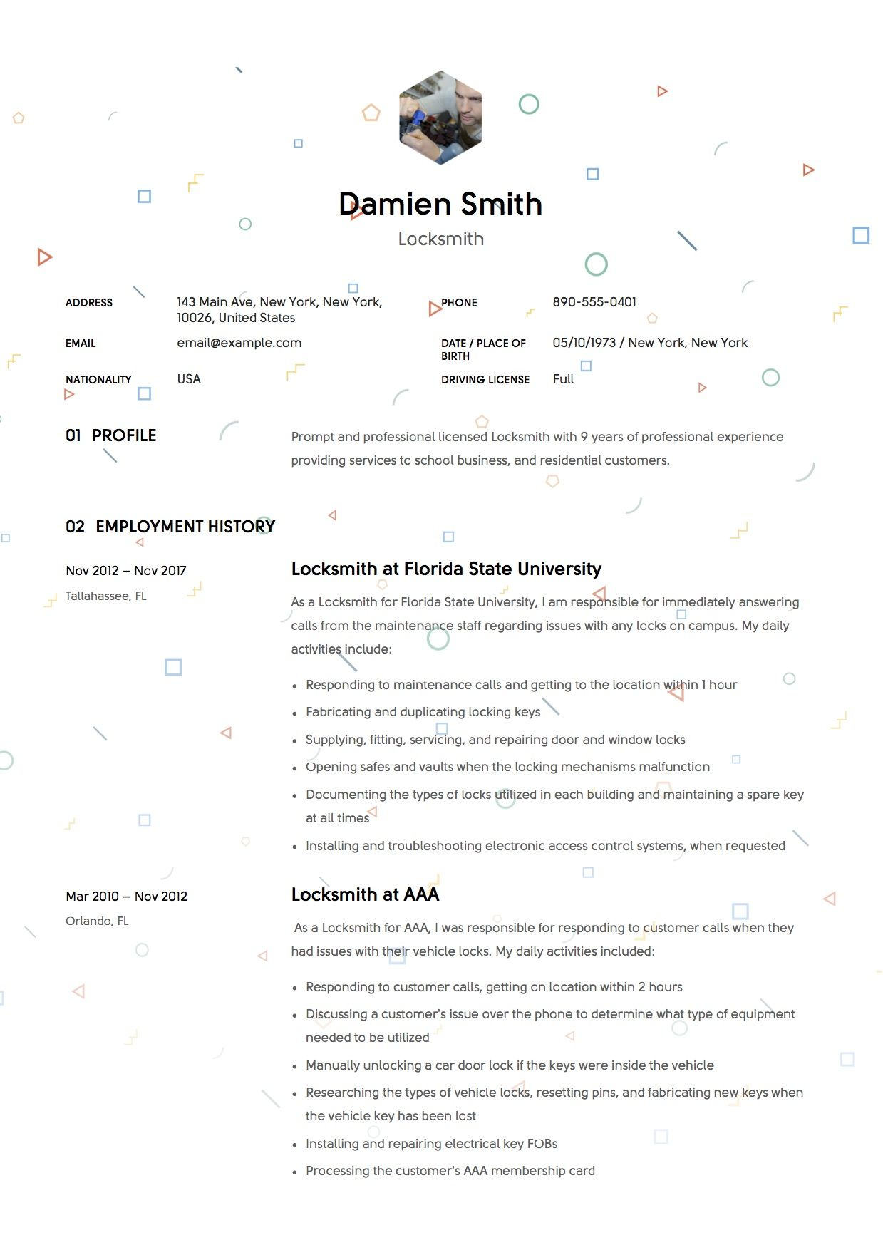 Locksmith Resume & Writing Guide [+12] Samples (With