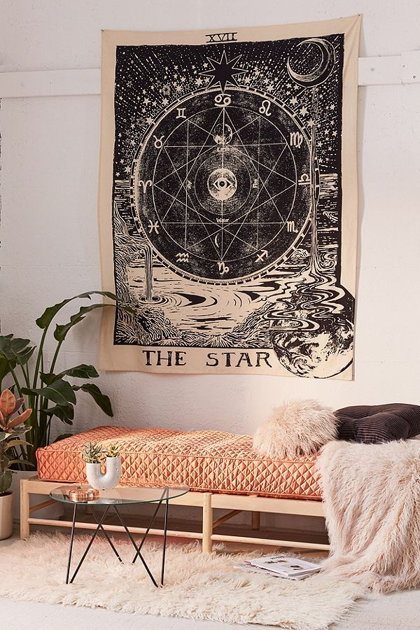 Slide view tarot tapestry also the modern witch   guide to home decor living pinterest rh