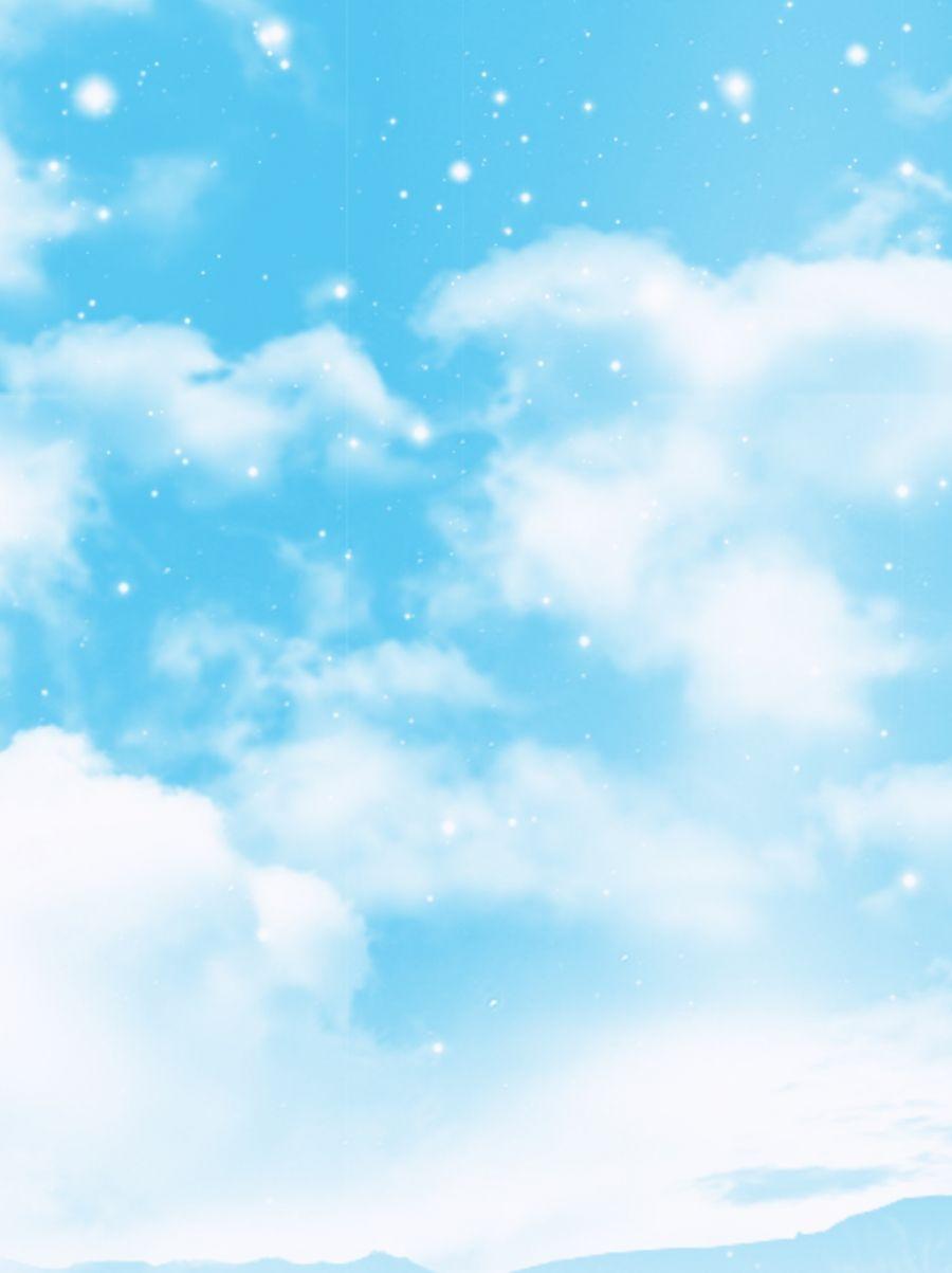 Blue Fresh Blue Sky Blank Cloud Background Material Blue Sky Background Pretty Backgrounds Sky And Clouds