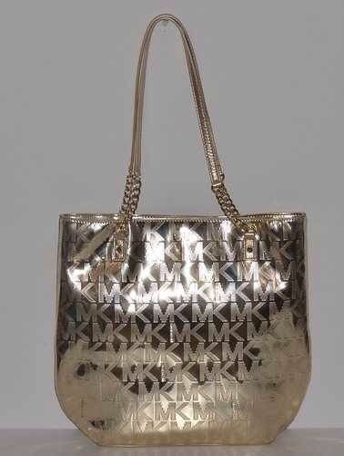 759618696a8 NWT Michael Kors MK Signature Jet Set Chain Tote Bag Metallic Pale GOLD  MSRP 248  MichaelKors  TotesShoppers