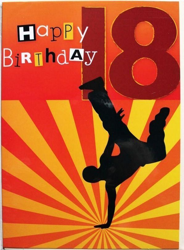 New 18th Happy Birthday Mens greetings card