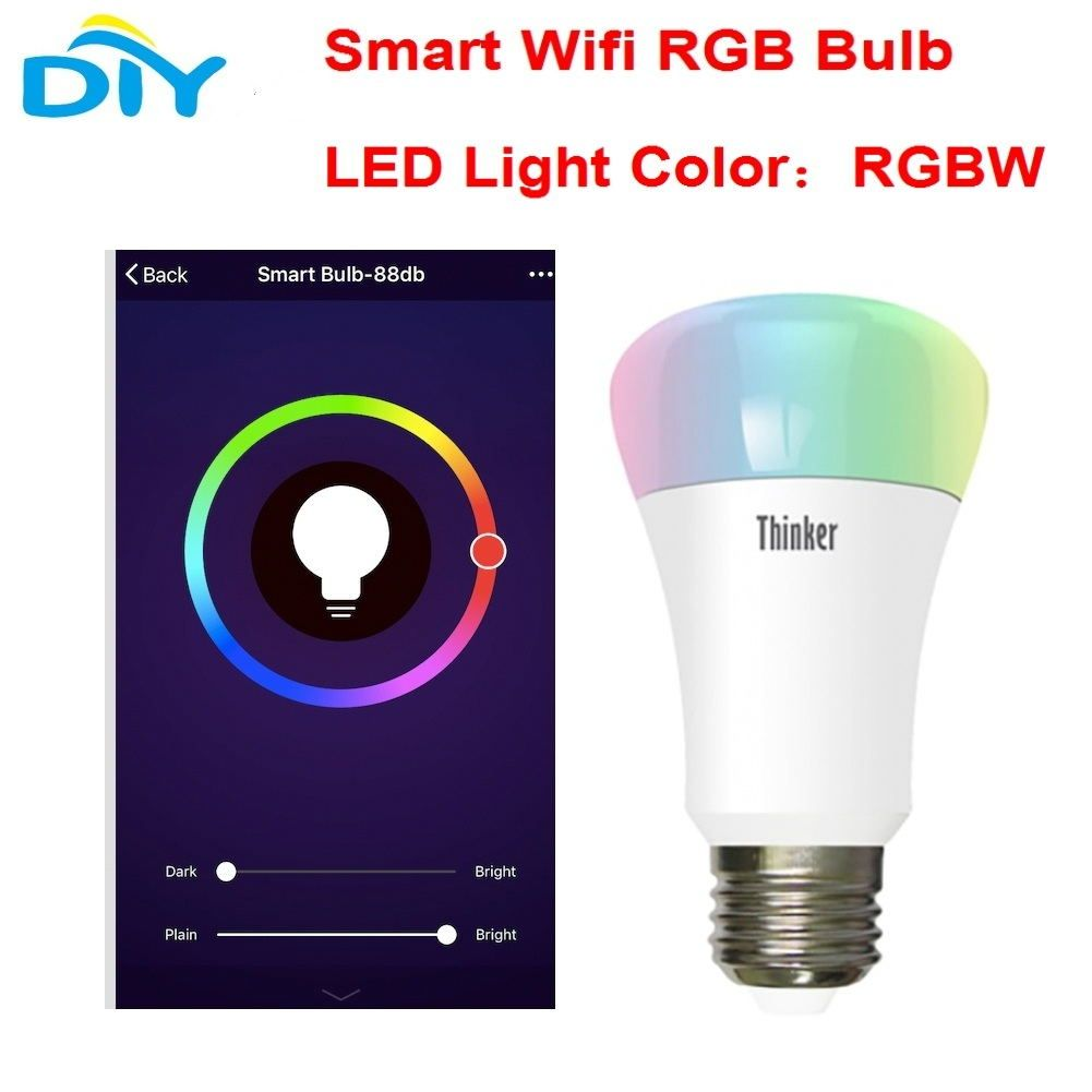 Esp8266 smart home wifi rgb led light lamp wireless e27 interface esp8266 smart home wifi rgb led light lamp wireless e27 interface 100v 255v this led parisarafo Image collections