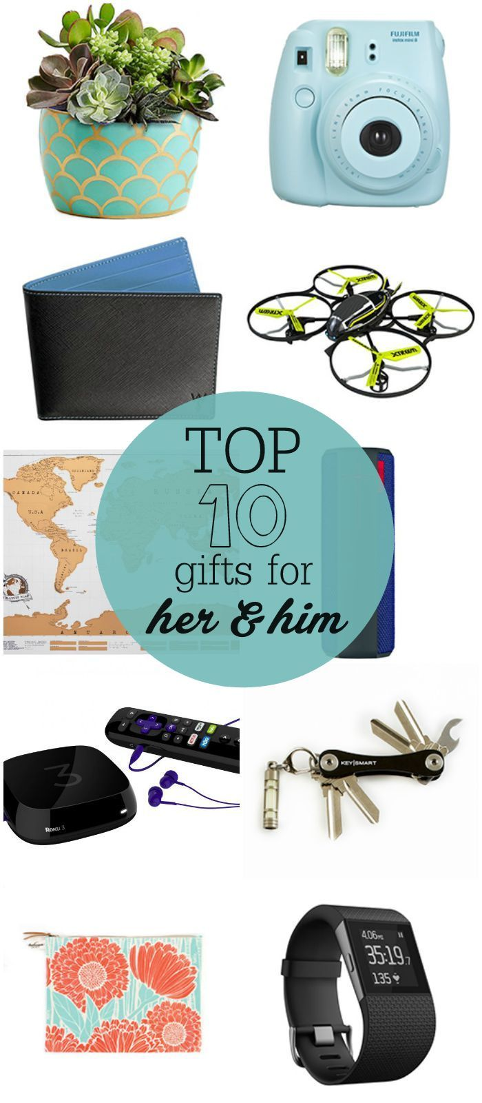 Top 10 Gifts for Her and Him   Best of Pinterest   Pinterest   Gifts ...