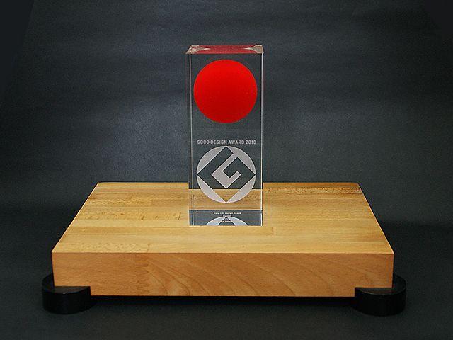 """Japanese """"Good Design"""" Award in glass"""
