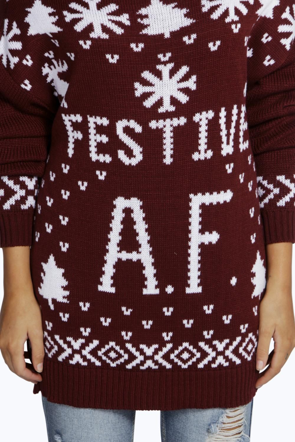 9fc67c50259ad Boohoo Womens Christmas Jumper Sweater Xmas Gift In Multi Colours & Sizes