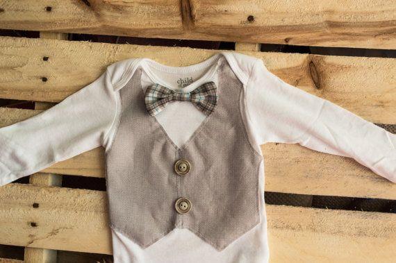 baby boy wedding onesie, bow tie onesie, bodysuit baby, baby boy onesie, bowtie onesie, 2 style choices on Etsy, $16.50