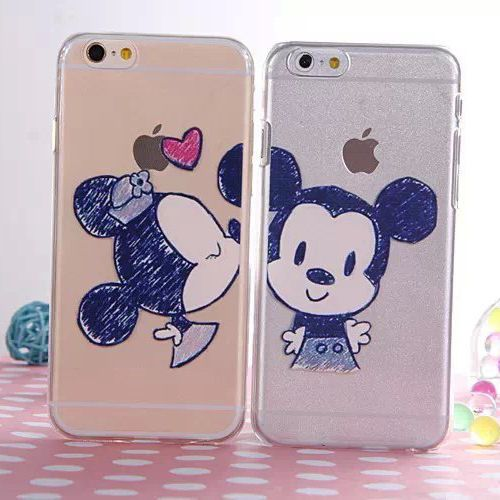 New Ultra Thin Cute Lovely Lovers Soft TPU Clear Case Cover for ...