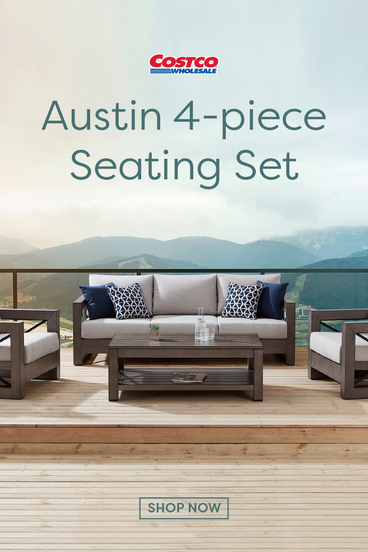 Austin 4-piece Seating Set | Outdoor living space, Outdoor living