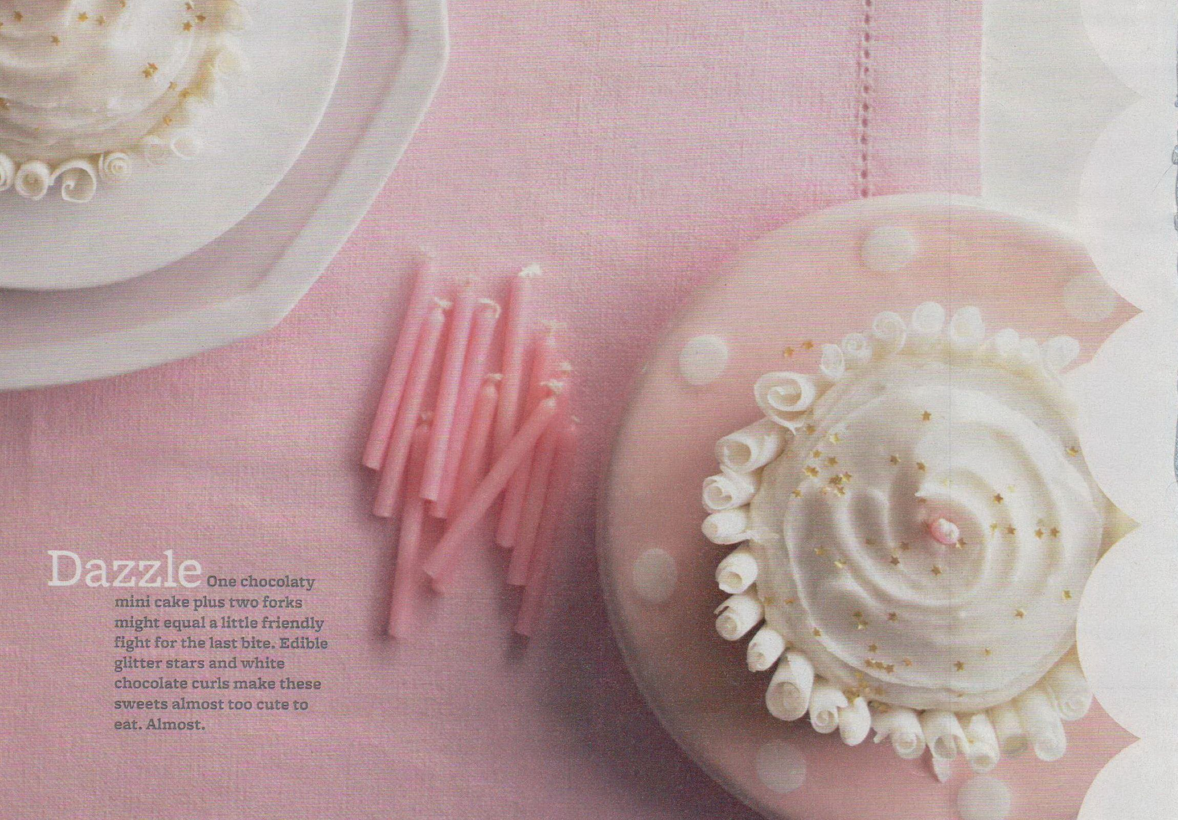 "gold stars & white chocolate curls from ""better homes & gardens - may 2012"""