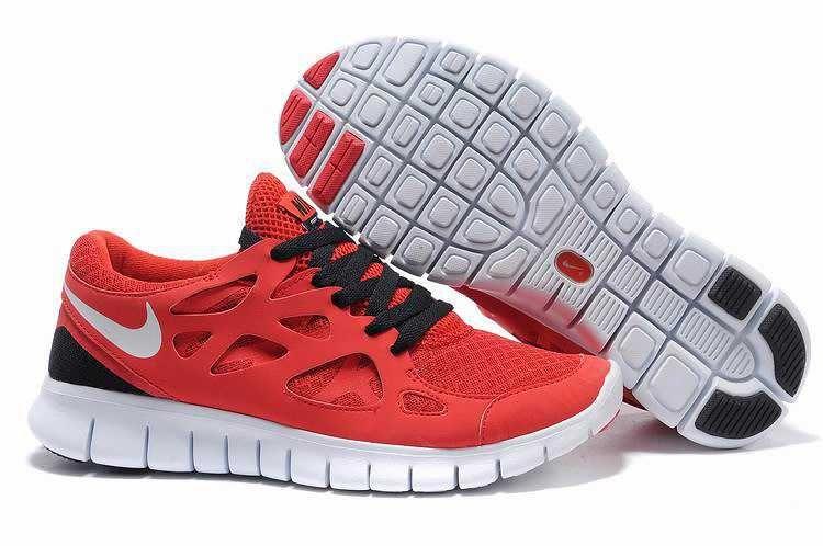 quality design 1897e f0329 1767  Nike Free Run 2 Dam Herr Svart Crimson SE019513THnkLgqG