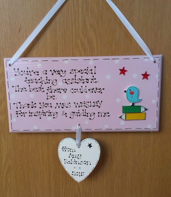 Personalised Wooden Sign Teacher Gift Thank You End Of Term Gift Cute Owl