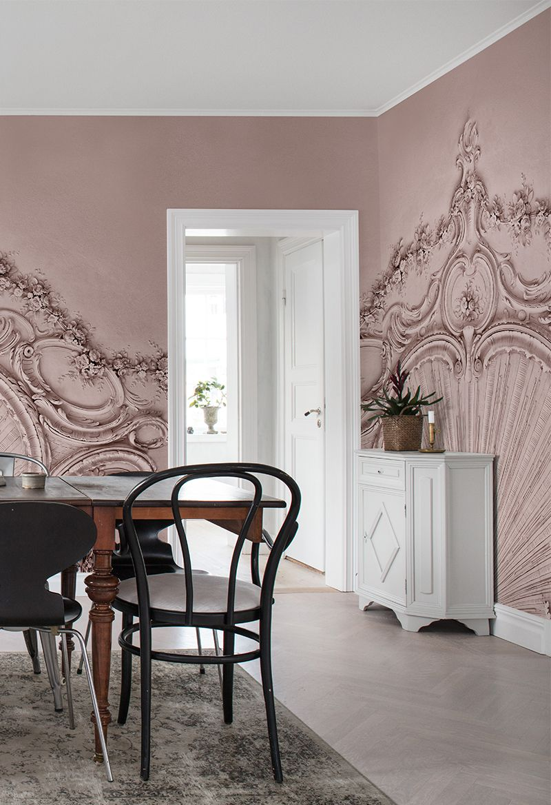 Stucco Gloria, Dusty Pink | Dusty pink, Wall murals and Walls
