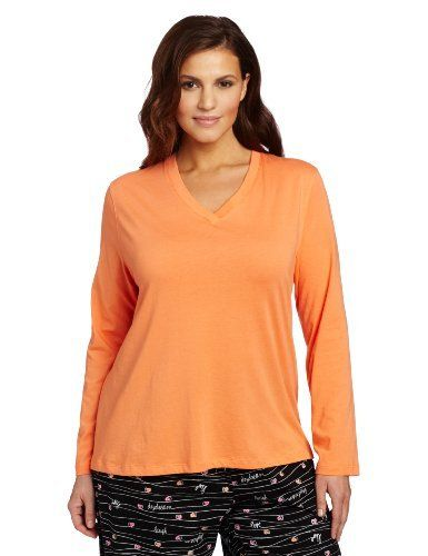 Hue Sleepwear Women s Plus-Size Long Sleeve V-Neck Sleep Tee HUE.  27.90 14e4b892c