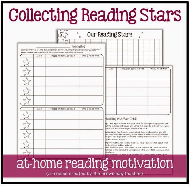 1st Grade Reading Logs: Goal Setting for At-Home Reading   Reading ...