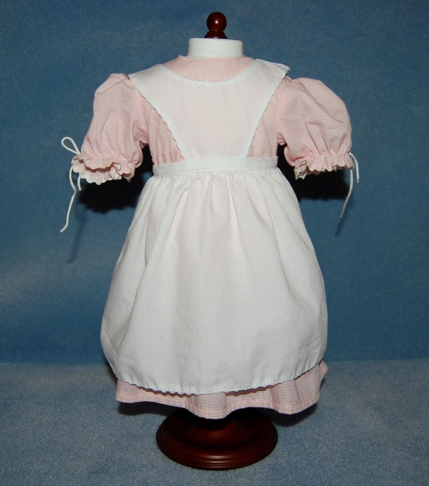 White pinafore apron ebay - Find Best Value And Selection For Your American Girl Doll Kirsten Pink Party Dress White Pinafore Apron Birthday Outfit Search On Ebay