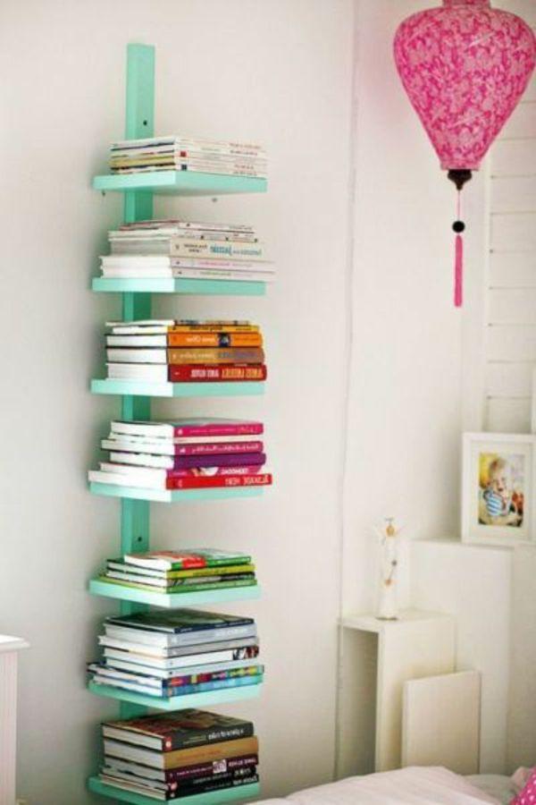 regale selber zusammenstellen bücher seladongrün Selfmade