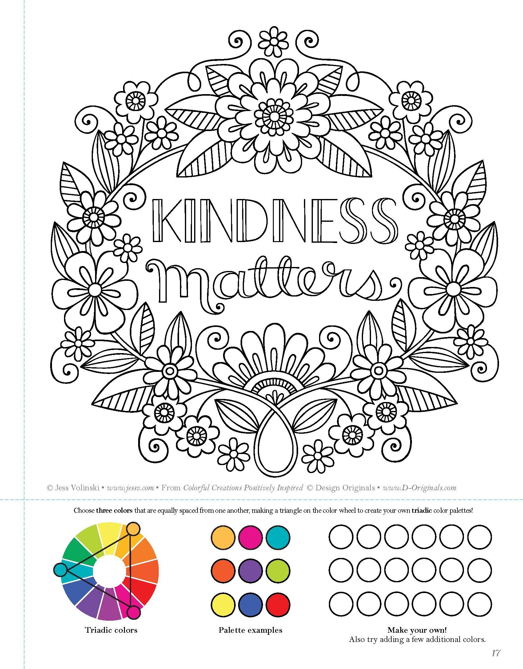 Amazon Com Colorful Creations Positively Inspired Coloring Book Coloring Book Pages Designed To Inspi Coloring Book Pages Coloring Books Quote Coloring Pages