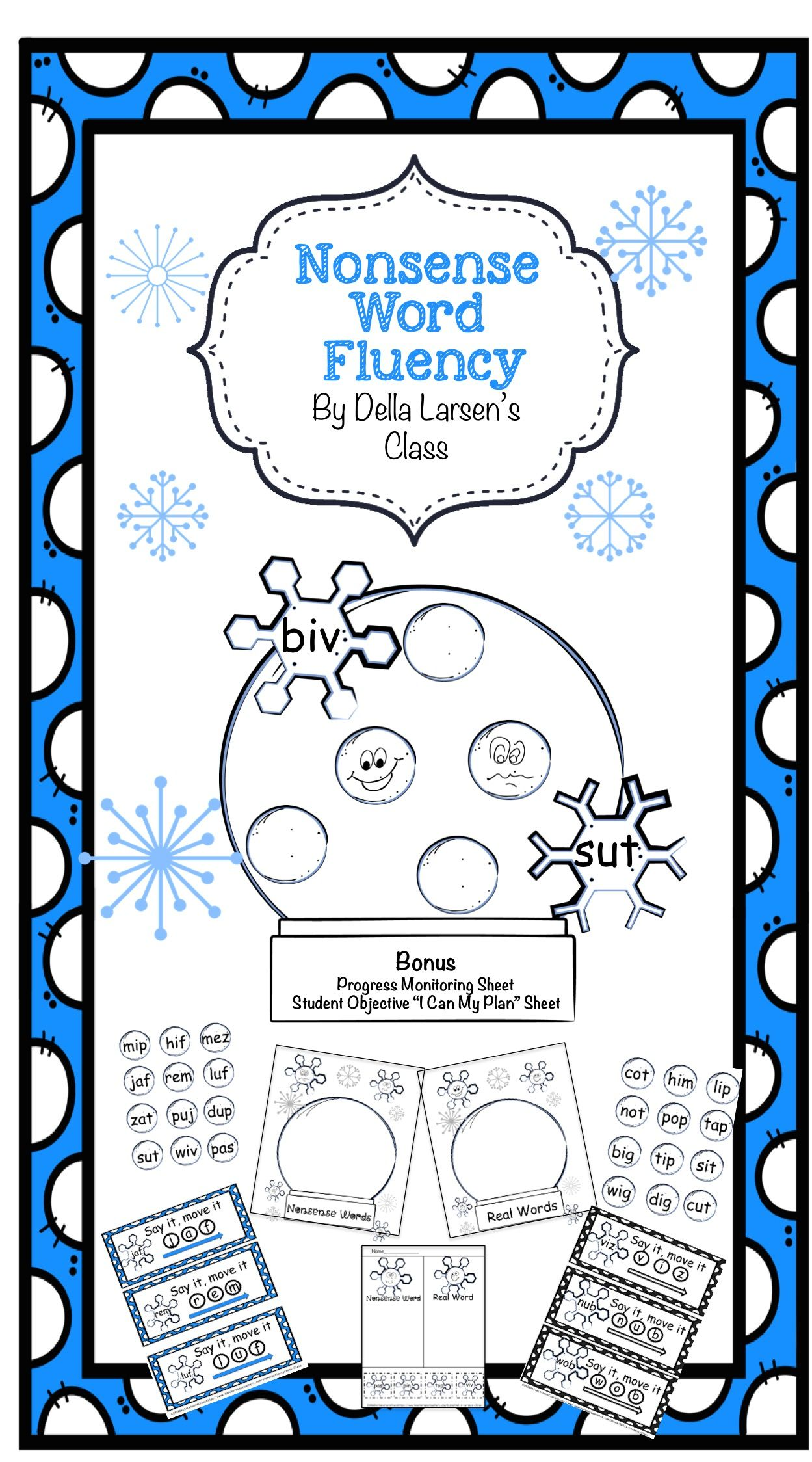 Nonsense Word Fluency With Bonus Classroom
