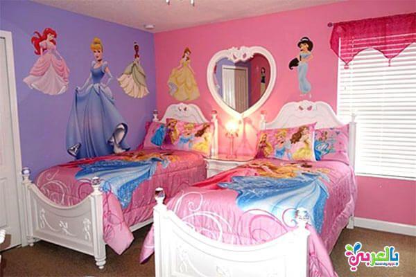 اجمل غرف نوم اطفال بتصاميم شخصيات كرتونية 2020 بالعربي نتعلم Princess Theme Bedroom Princess Room Decor Disney Princess Bedroom