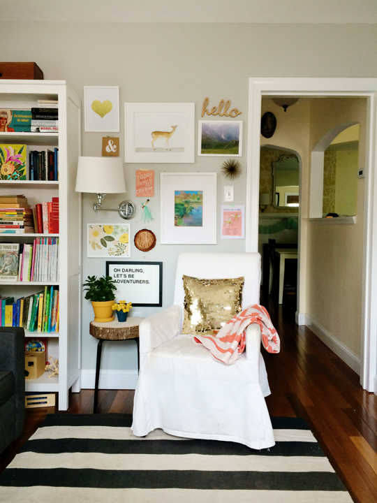 Before and After: Lauren\'s Art Wall Weekend Project — Apartment ...