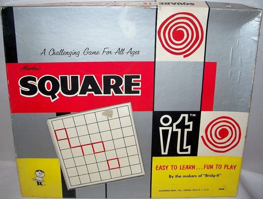 HASBRO 1961 Square It Game Vintage Games Vintage