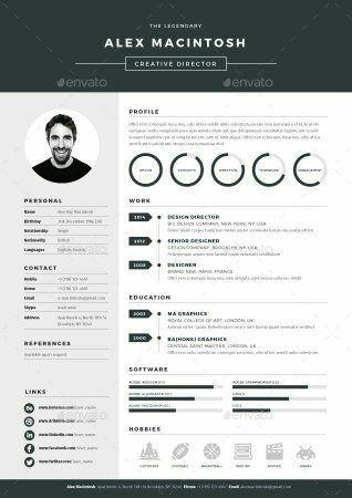Image result for graphic designer resume resume design Pinterest