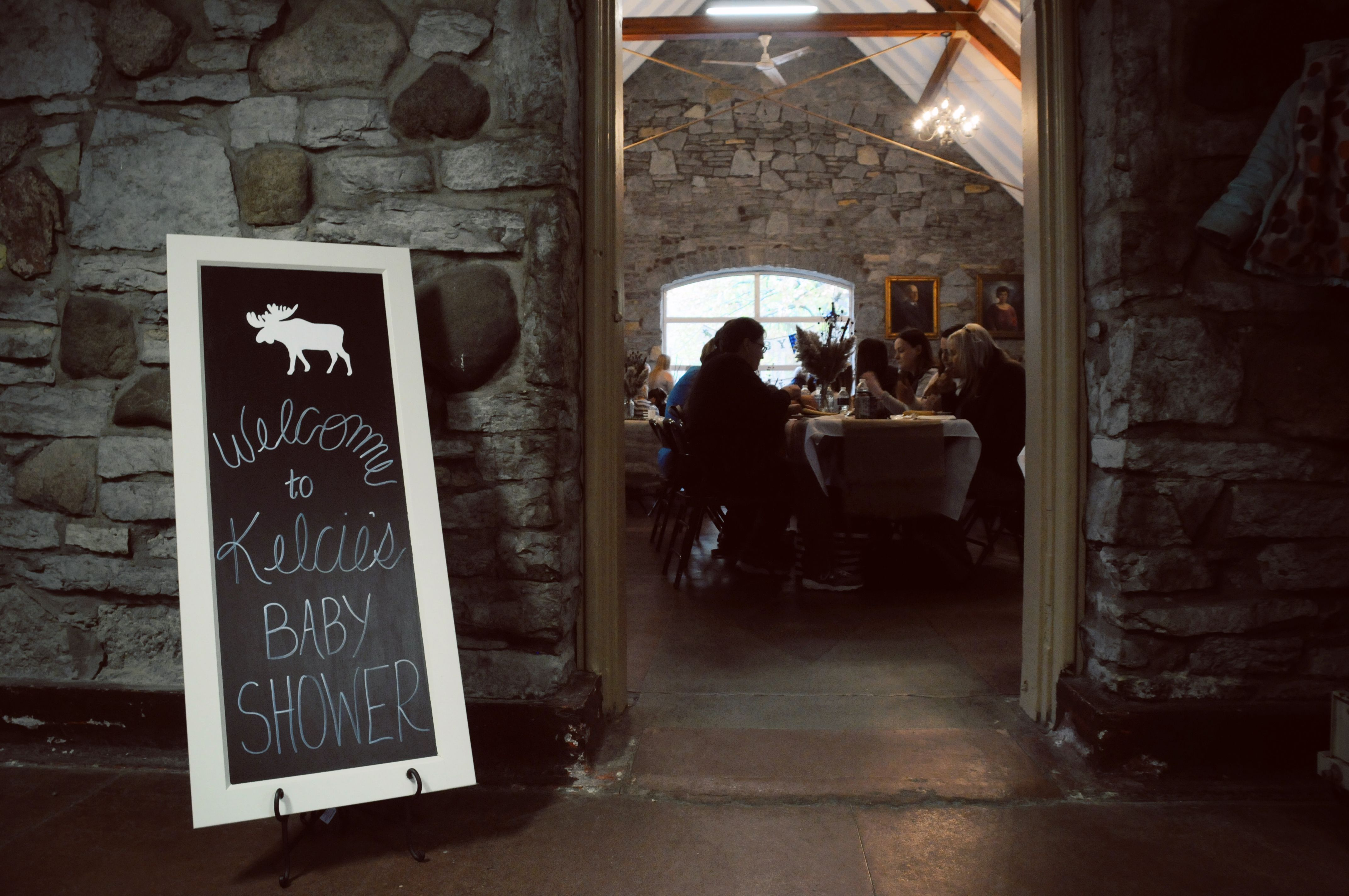 Baby shower Welcome Sign - Moose, Chalk Paint, reclaimed cabinet ...