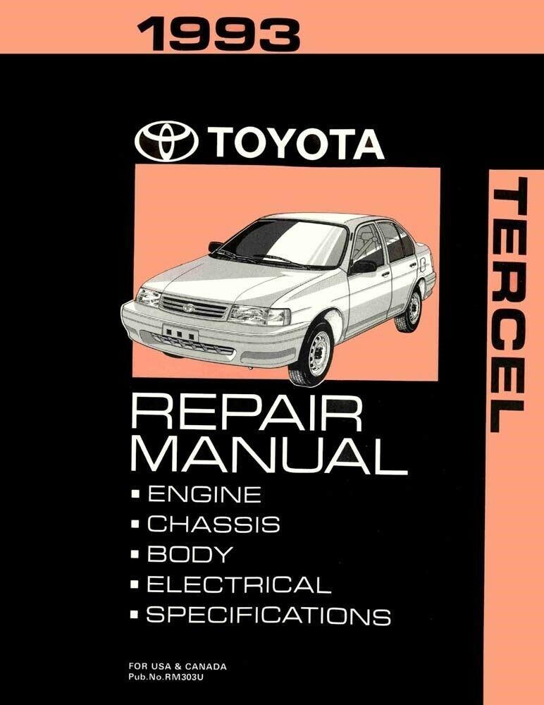 1993 Toyota Tercel Shop Service Repair Manual Toyota Tercel Repair Manuals Repair