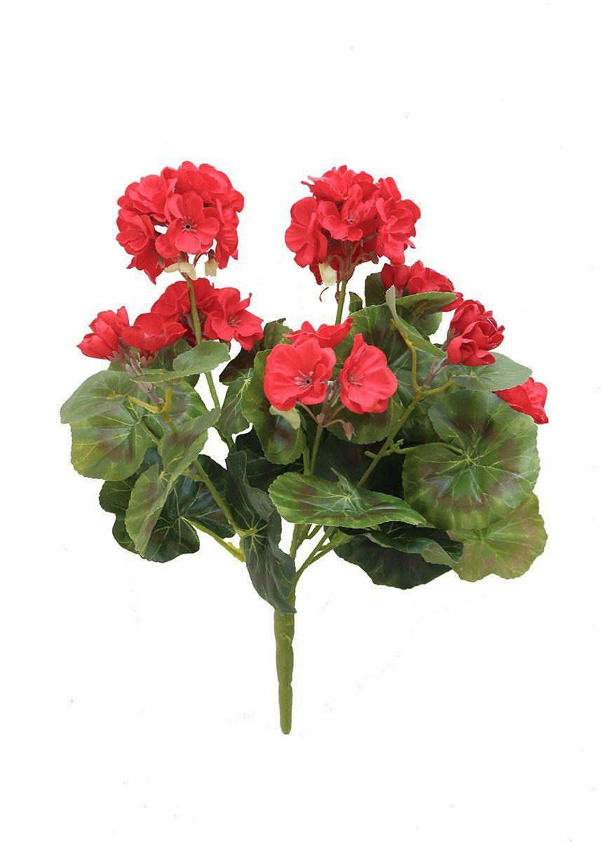 Geranium Silk Flower Bush In Red 14 Products Pinterest Silk