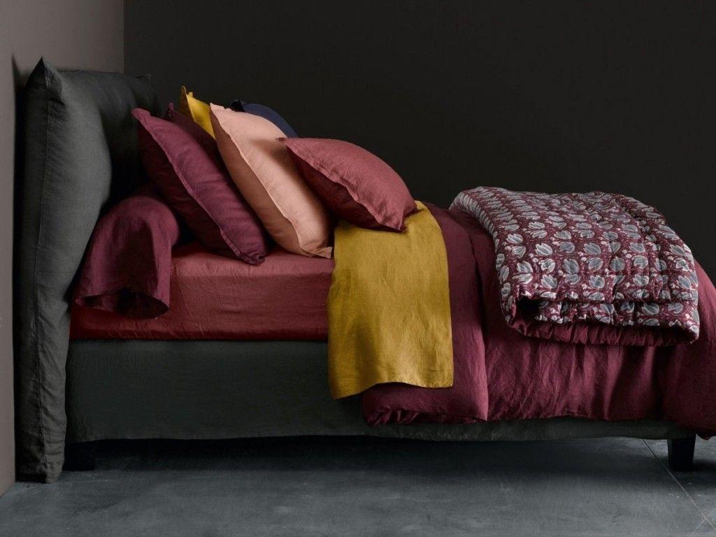 Linge De Maison Bordeaux le bon mix déco : rouge, rose et gris | deco chambre