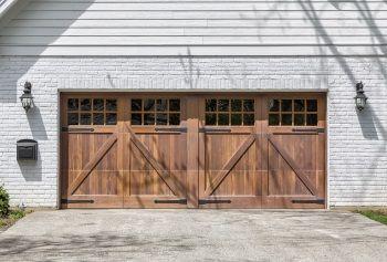 Making Wood Garage Doors Work For Your House Garage Doors Garage Door Opener Installation Wooden Garage Doors