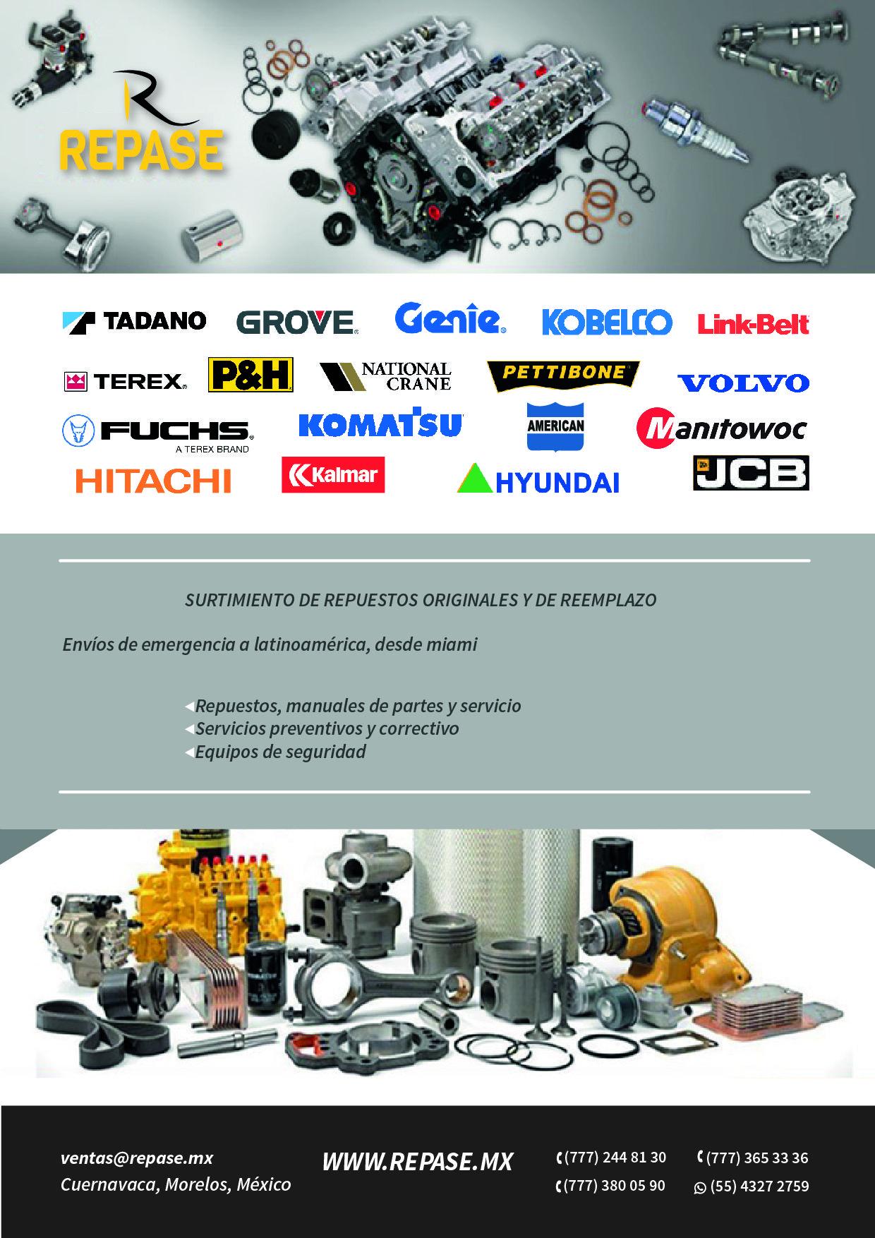 3a0e263db IMPORTAMOS Y COMERCIALIZAMOS Componentes y Refacciones para Gruas  Industriales, Equipo Portuario, Minero y Maquinaria