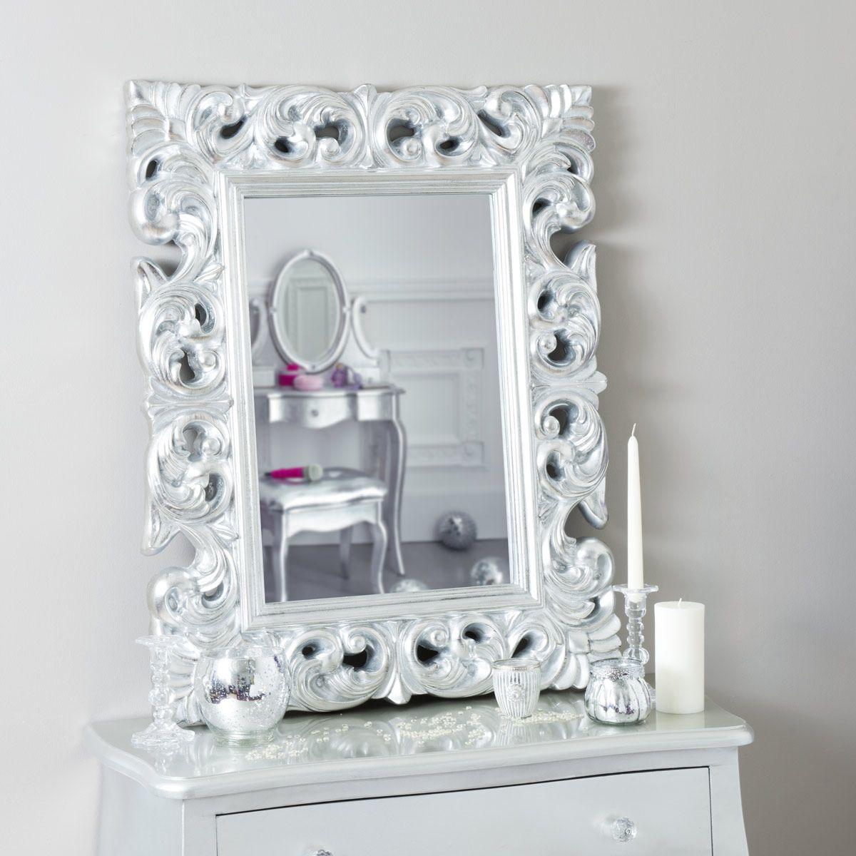 Miroir Rivoli silver 90x70 130e   Deco   Pinterest   Chambres de ...