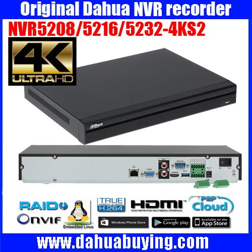Dahua original 4CH 4MP H2 65 DH-IPC-HDBW4421E 4pcs CCTV