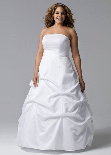 7ccf1b893ca9 David s Bridal Wedding Dress  Satin Pick-up Ball Gown with Sash Style  9BR1010 David s