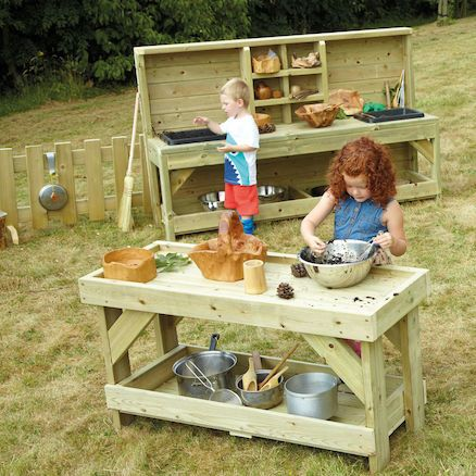 Concoctions Corner. We know how important it is for children to play outside. Experimenting with messy materials is also a vital part of that learning experience. Mixing, pouring and stirring ingredients is not only great fun but helps the children to make connections and develop their understanding of how things work. This collection creates a wonderful opportunity for children to develop their interests and explore, investigate, squelch and splash. These items can be purchased separately
