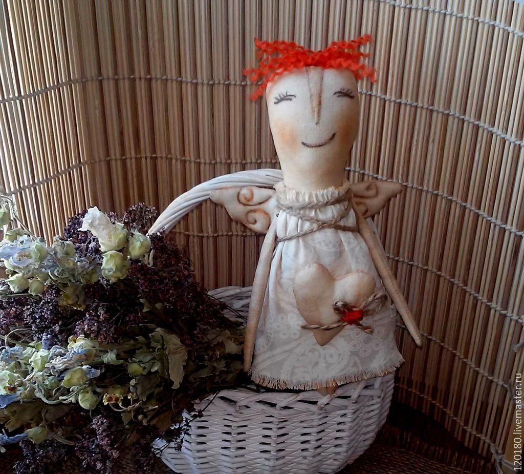 Купить Текстильная кукла . АНГЕЛ ... - рыжий, кукла Примитив, ангел, ароматизированная кукла, интерьерная кукла