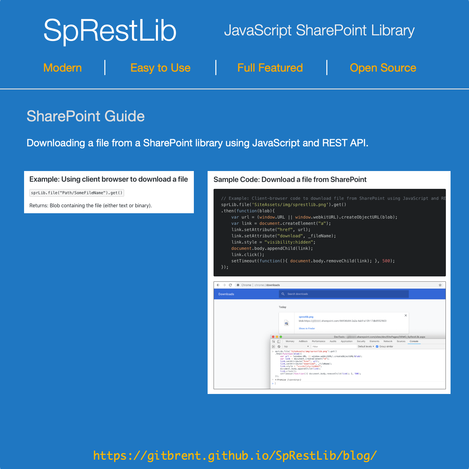 Howto download a file from SharePoint Library using REST  This