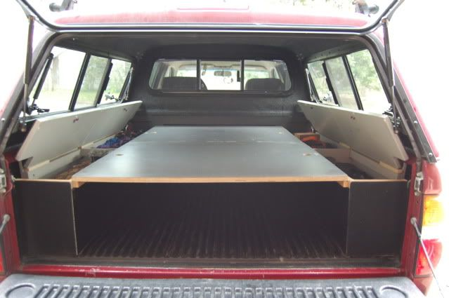 Sleeping Platform Ideas/Picts - Tacoma World Forums & truck canopy modification | ARE camper shell AAL Hella 500u0027s ...