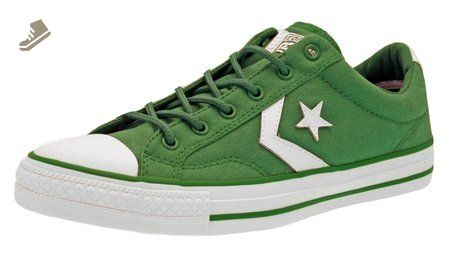 60bcde85b475e9 Mens Converse Star Player Low Canvas Trainers Green 9 - Converse chucks for  women ( Amazon Partner-Link)