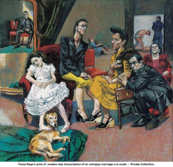 paula rego unhappy marriage paintings pinterest art