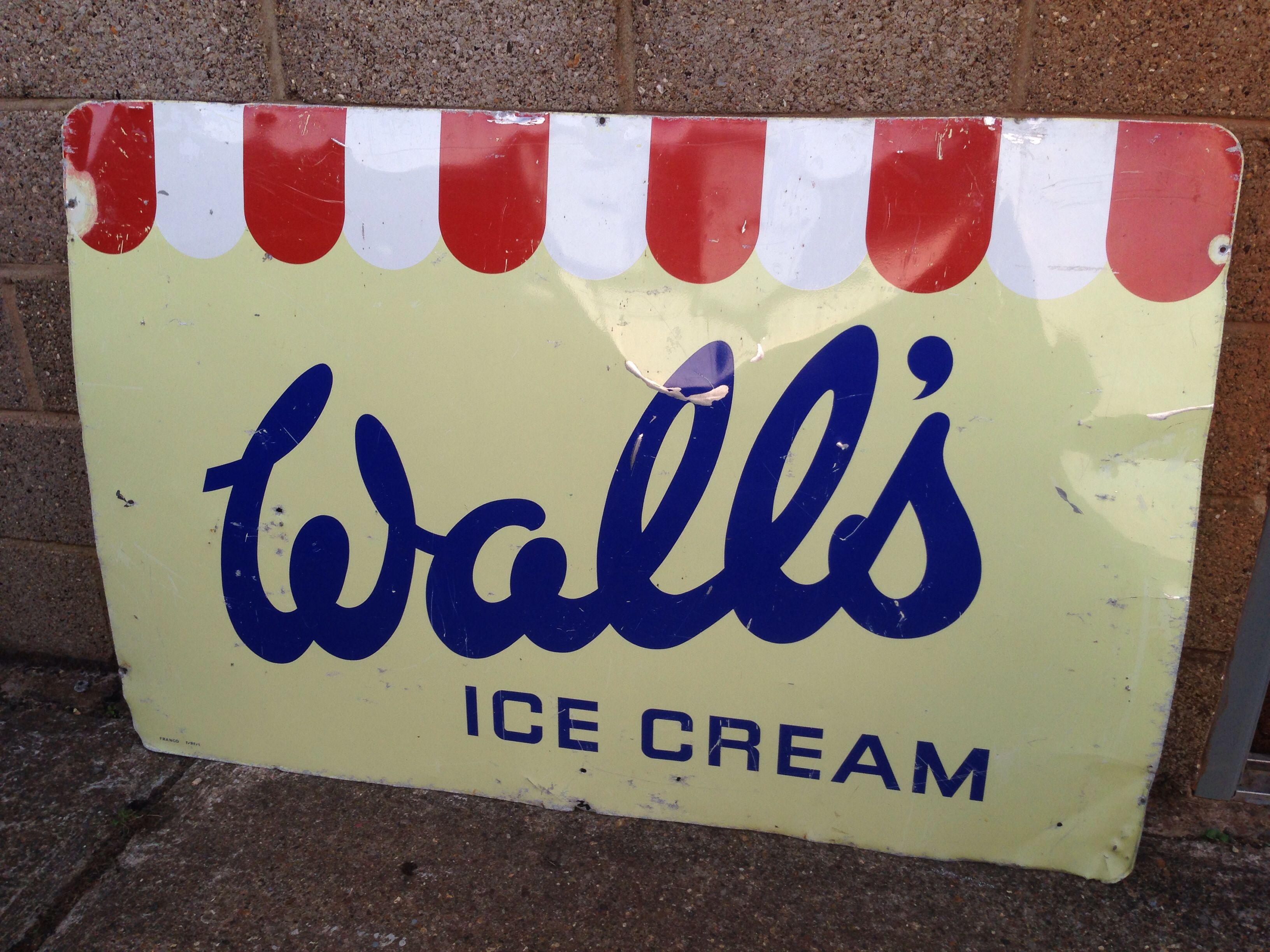 Original Large Walls Ice Cream Tin Sign Walls Ice Cream Novelty
