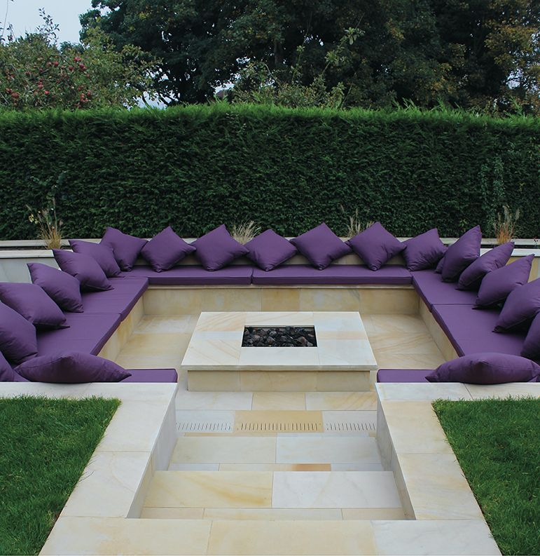 Ivory Sandstone Flagstones   Landscaping   Seating   Patio   Garden Path    Contemporary Paving
